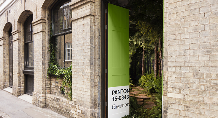 "Airbnb and Pantone Unearth a Color of the Year Experience Through a ""Greenery"" House"