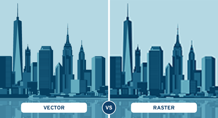 Vector Graphics vs. Raster Graphics